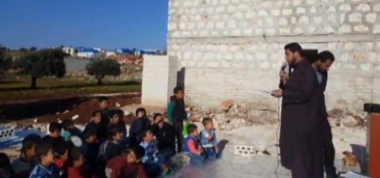 تكريم الطلاب من حفظة القرآن في مخيم النصر بريف حماه
