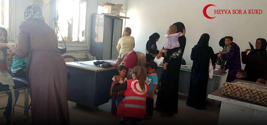 الهلال الأحمر الكردي ينوي إطلاق حملة لقاحات في المناطق المحررة في ريف الرقة الغربي