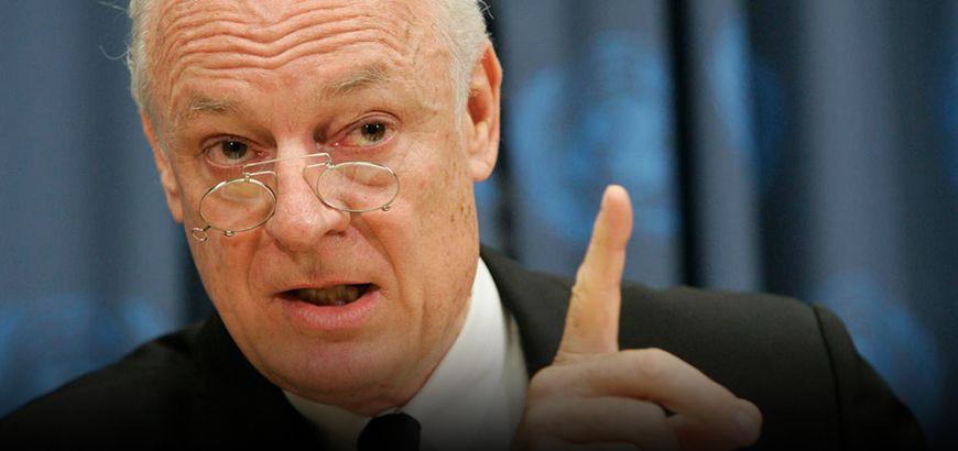 دي ميستورا يؤكد أن محادثات السلام السوريّة في جنيف لن تحيد عن قرار الأمم المتحدة