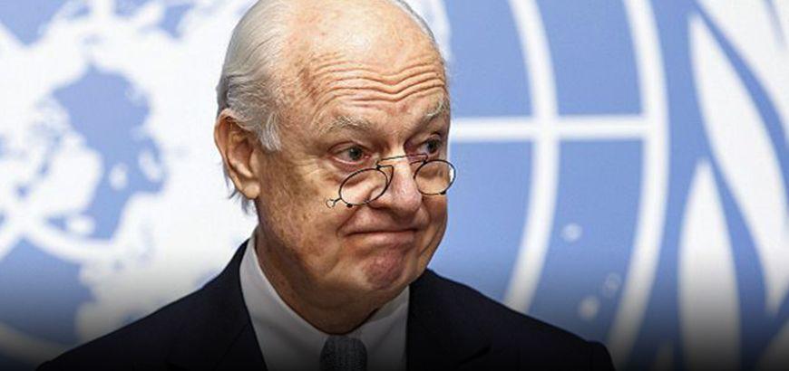 """""""دي ميستورا"""" لا يتوقع انفراجة سريعة في الجولة الحالية من المفاوضات السورية في جنيف"""