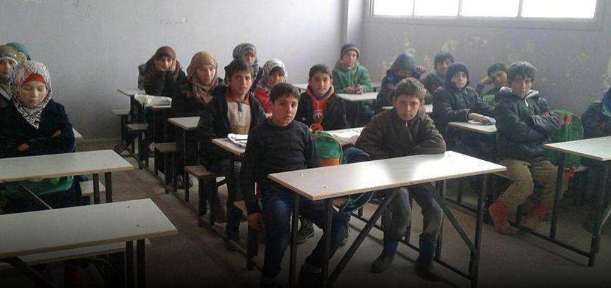 """مدرسة """"شام"""" للأيتام في بلدة احتيملات ترعى 150 يتيم وتستعد لاستقبال 880 آخرين من القرى المجاورة"""