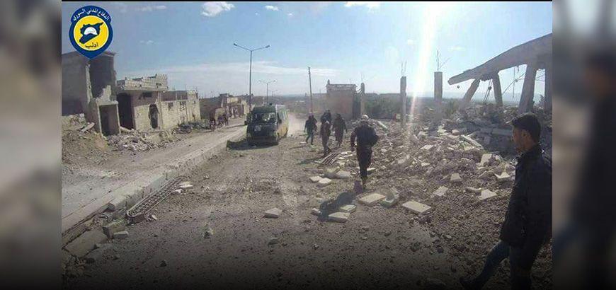 قتلى وجرحى جراء قصف جوي بالبراميل المتفجرة والقنابل العنقودية على ريف إدلب