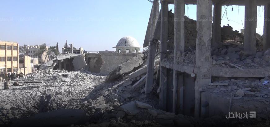 """الجيش الحر: """"داعش"""" لغّم حتى المساجد والمصاحف في """"الباب"""" قبل طرده منها"""