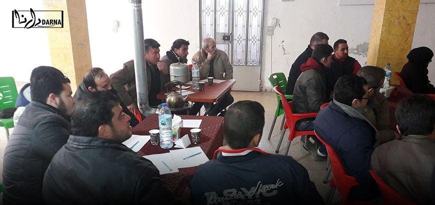 """ورشة """"المحاسبة""""ضمن مشروع المال مقابل العمل في بلدة معصران بريف إدلب"""