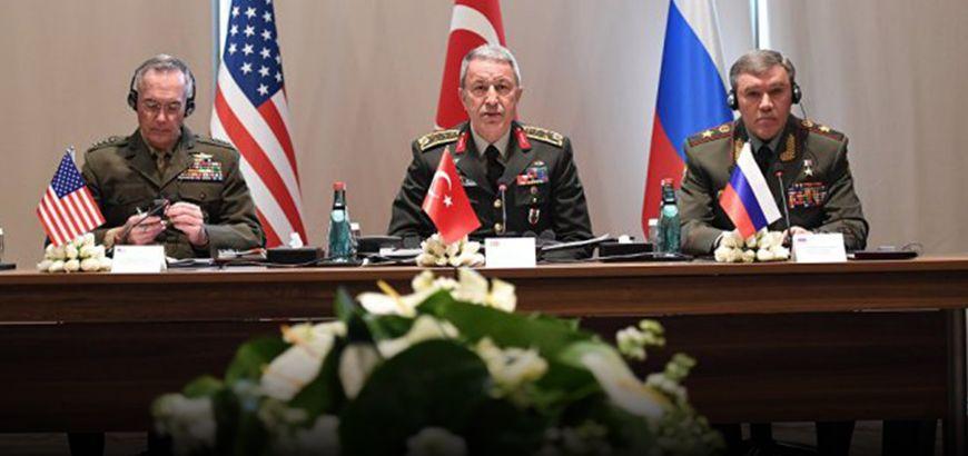 لليوم الثاني.. رؤساء أركان تركيا وأمريكا وروسيا يبحثون آخر تطورات الوضع في سوريا