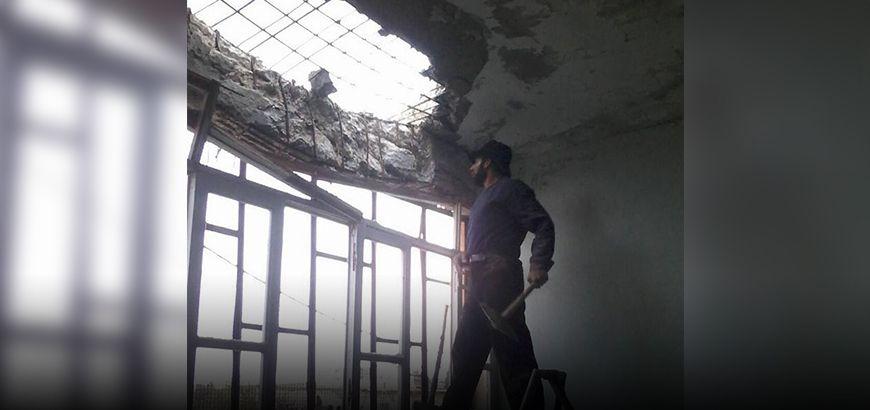 """استمرار مشروع """"ترميم المدارس"""" في مجمعات أريحا وجبل الزاوية التربوية بريف إدلب"""