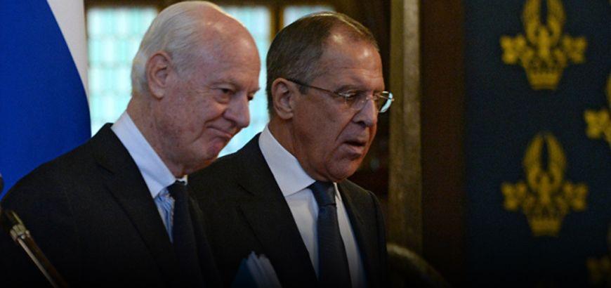 """""""لافروف"""" يصف التسوية في سوريا بـ """"الهشّة"""" و""""ديميستورا"""" قلق حيال تصعيد الأوضاع الميدانية"""