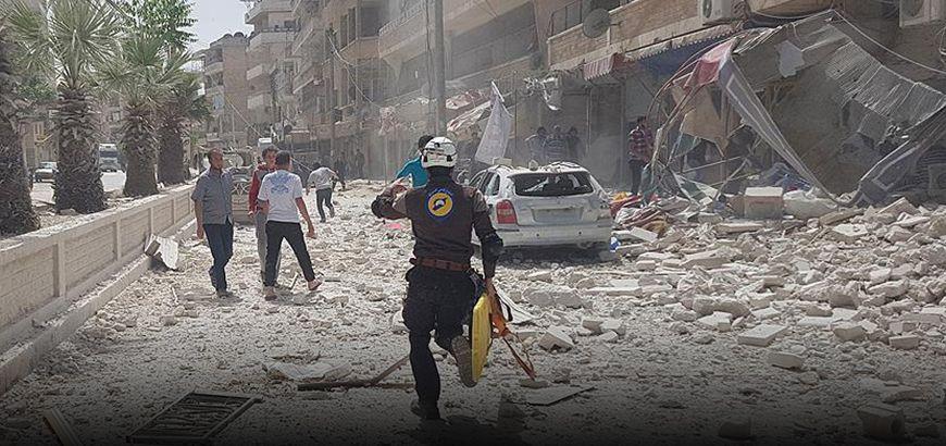 غارات روسيّة تخلف شهداء مدنيين وتخرج مراكز طبية عن الخدمة بريف إدلب