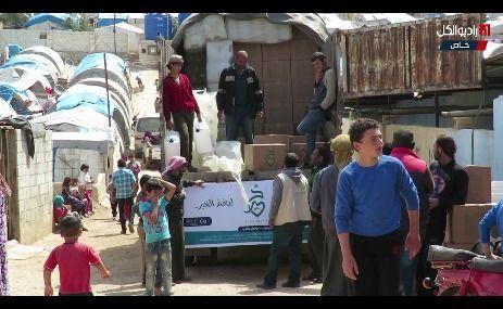 """فريق """"مكتب الإحصاء العام"""" يضع خطة طارئة لإغاثة نازحي مدينة خان شيخون في المخيمات الحدودية مع تركيا"""