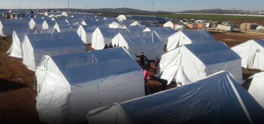 """نازحو مخيم """"الرسالة"""" بريف حلب الشمالي يطالبون بحل مشكلة الجور الفنية"""