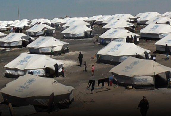 """حالة إنسانية مزرية بمخيم عين عيسى بريف الرقة في ظل حصار ميليشيا """"قسد"""""""